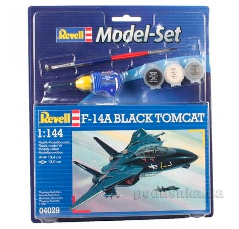 Сборная модель-копия Model Set Самолет F-14A Tomcat Black Bunny 64029