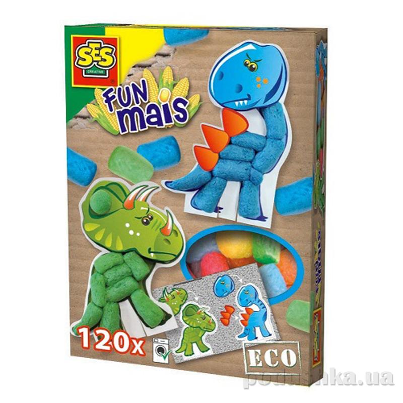 Набор для творчества Забавная Кукуруза Динозавры Ses 24953S