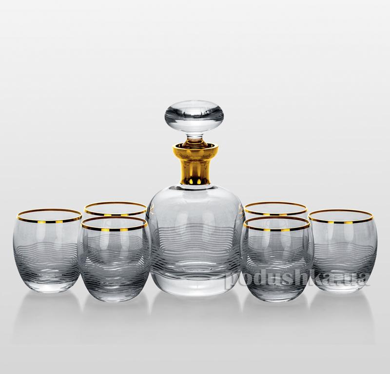 Набор для виски Onda золото Bohemia Sklo 32-035