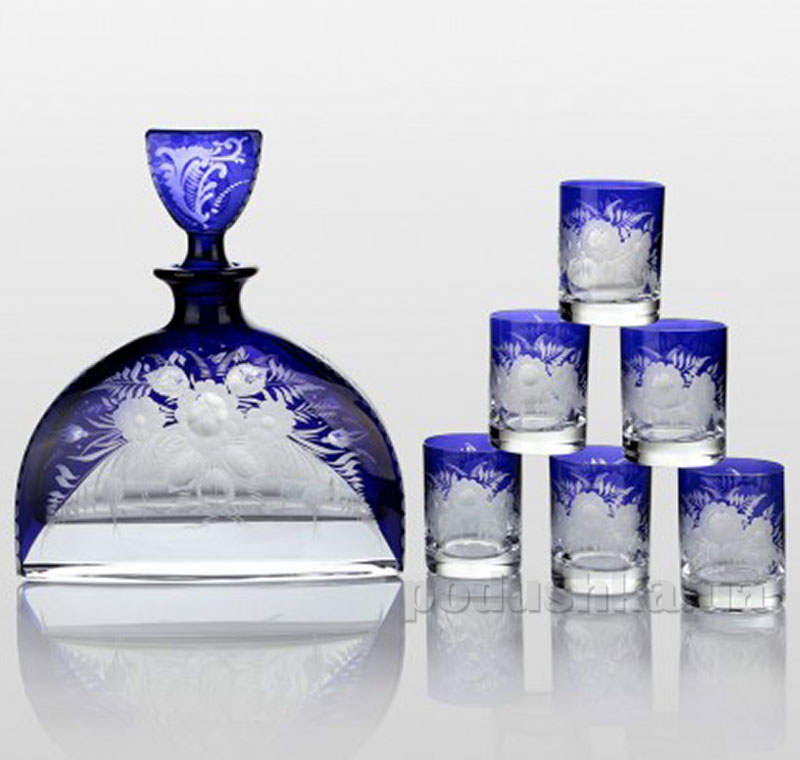 Набор для водки Bohemia Sklo Prestige Nemo Cobalt 7 предметов 30-072