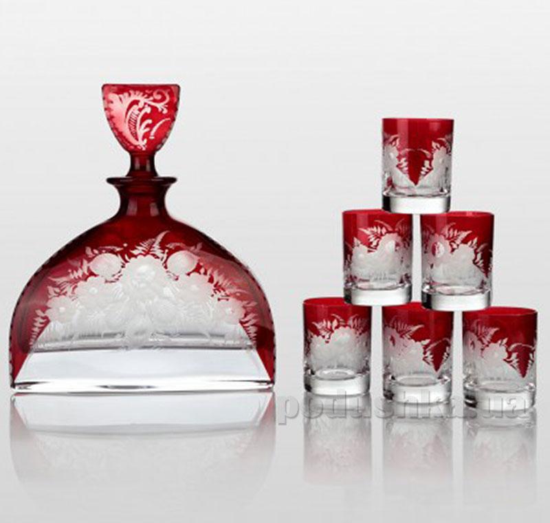 Набор для водки Bohemia Sklo Prestige Nemo Ruby 7 предметов 30-071