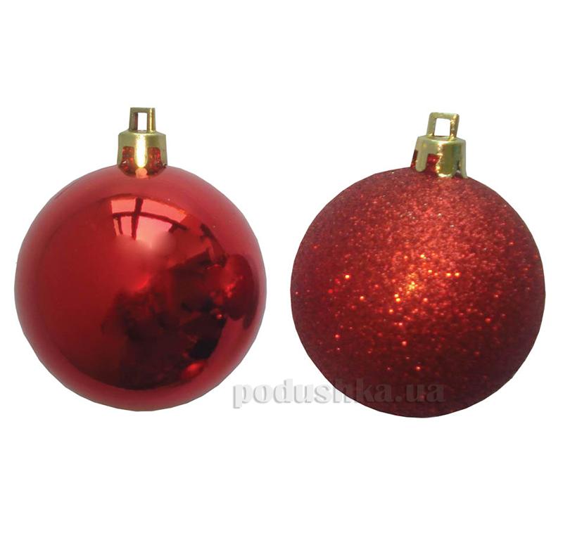 Набор елочных шаров Дуэт красный Новогодько 971632