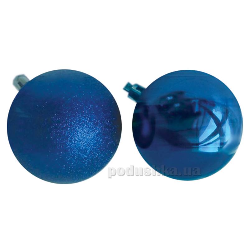 Набор елочных шаров Дуэт синий Новогодько 971644