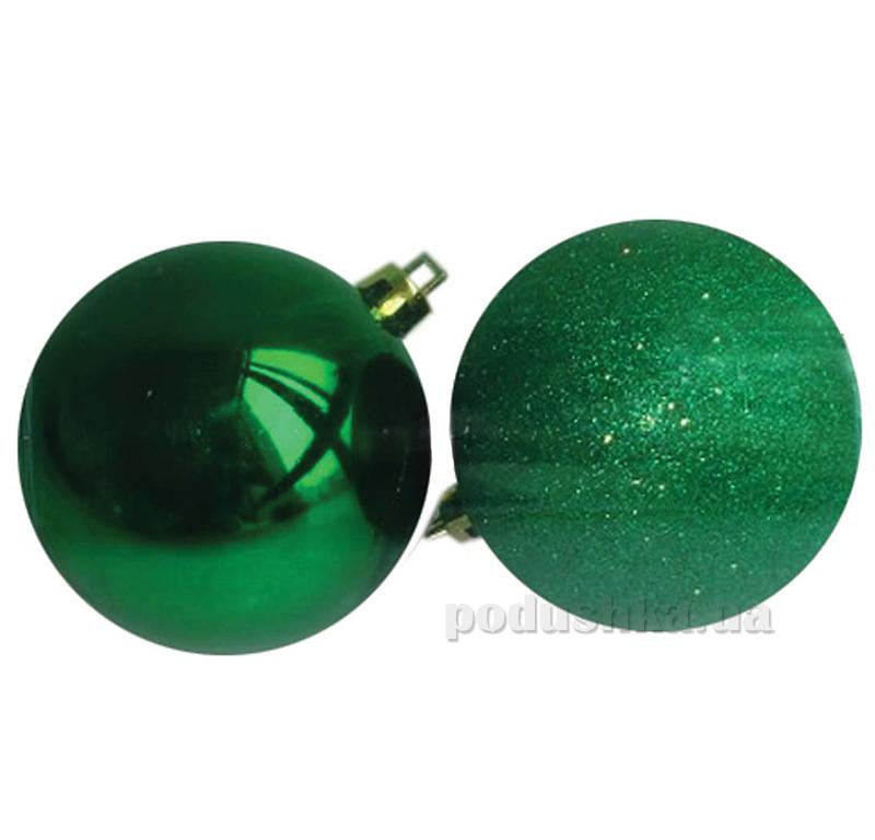 Набор елочных шаров Дуэт зеленый Новогодько 971622