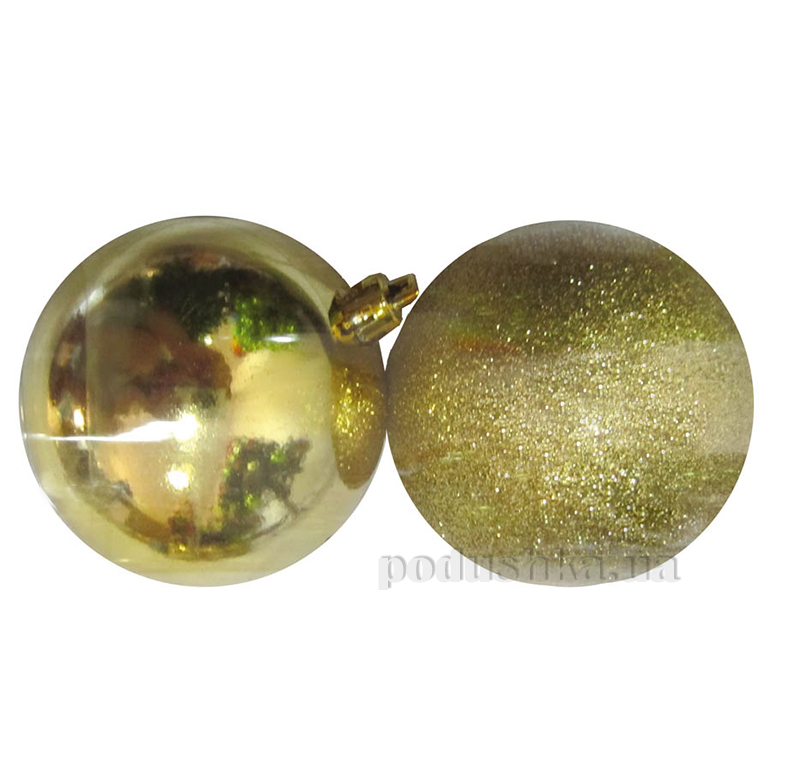 Набор елочных шаров Дуэт золото Новогодько 972137