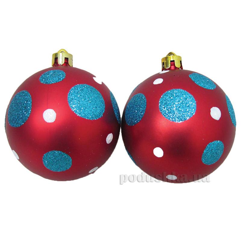 Набор елочных шаров Кружочки синие Новогодько 971764
