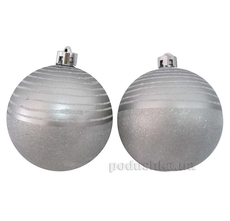 Набор елочных шаров Серебро Новогодько 971749
