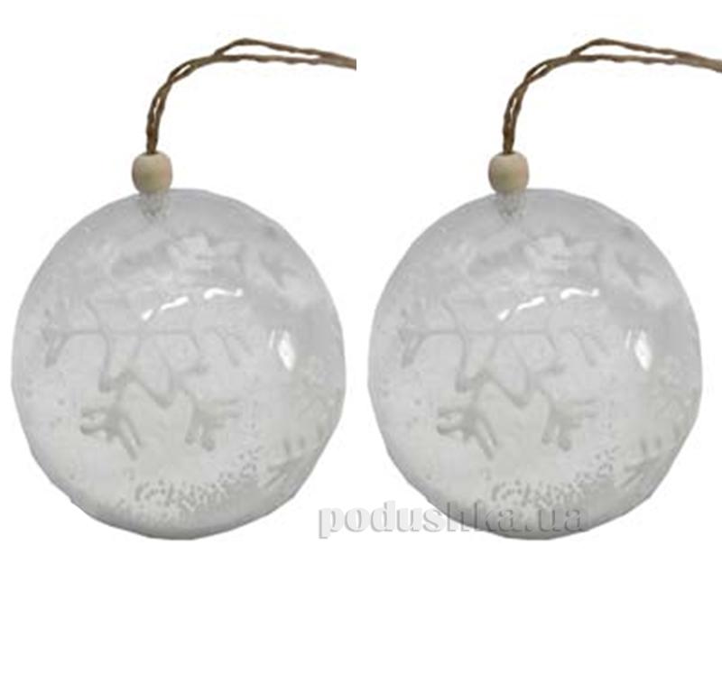 Набор елочных шаров Снежинки Новогодько 972179