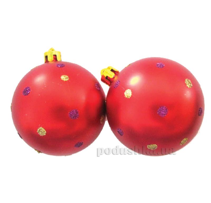 Набор елочных шаров Точечки красные Новогодько 971549