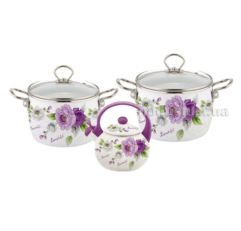 Набор эмалированной посуды 5 предметов Kamille 5900А