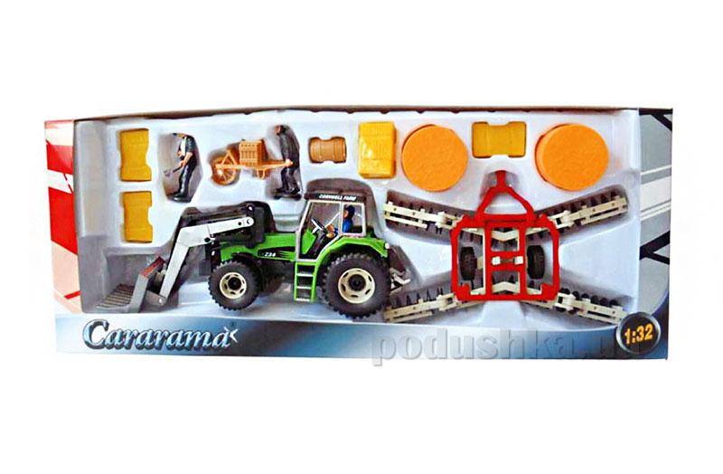Набор Фермер с трактором погрузчиком сена Cararama