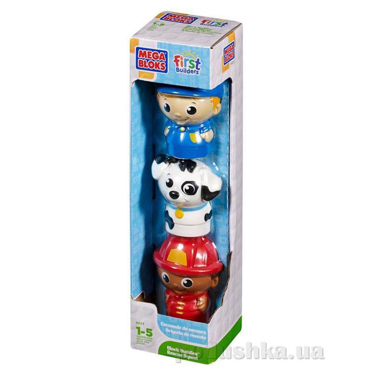 Набор фигурок Пожарный полицейский и щенок далматинец 6623 Mega Bloks