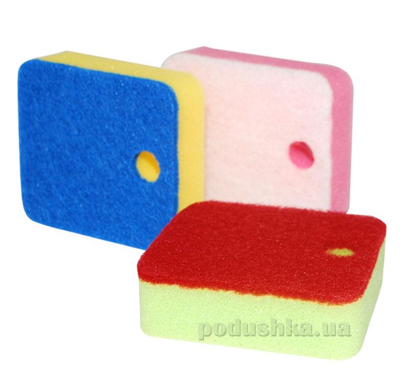 Набор губок для мытья посуды 3 шт ST 92108