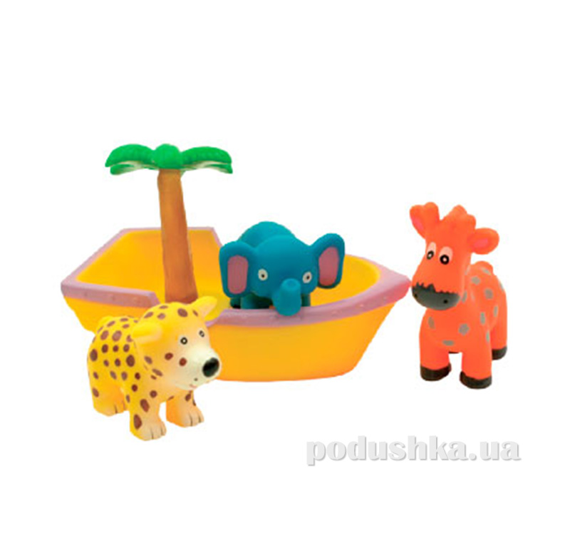 Набор игрушек для ванны Зверюшки в лодке Team AKT-9017