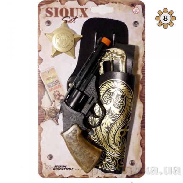 Набор Индейцы сиу с 8-зарядным пистолетом Edison 0541.26