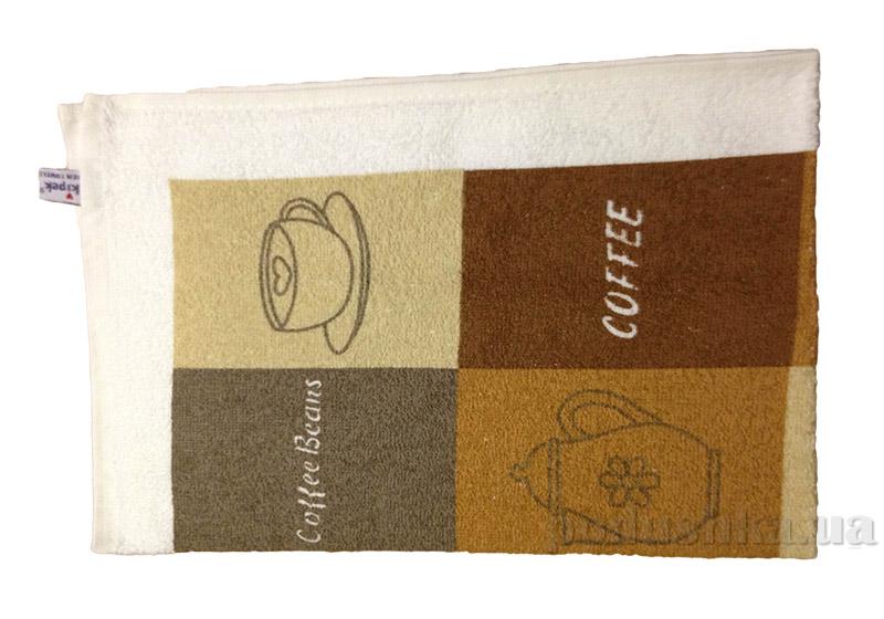 Махровое кухонное полотенце Akipek Кофе