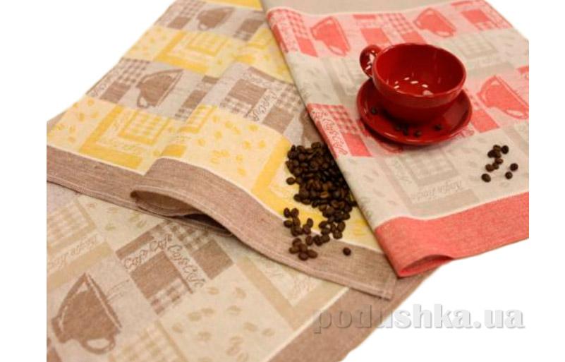Набор кухонных полотенец  Белорусский лен Кофе 13с295