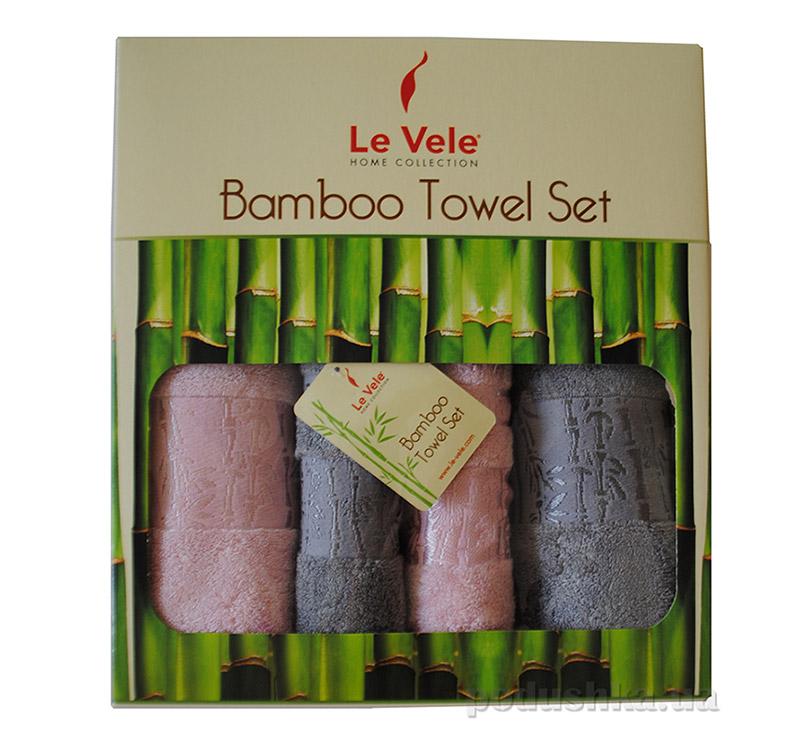 Набор из 4 бамбуковых махровых полотенец Le Vele Bamboo в коробке