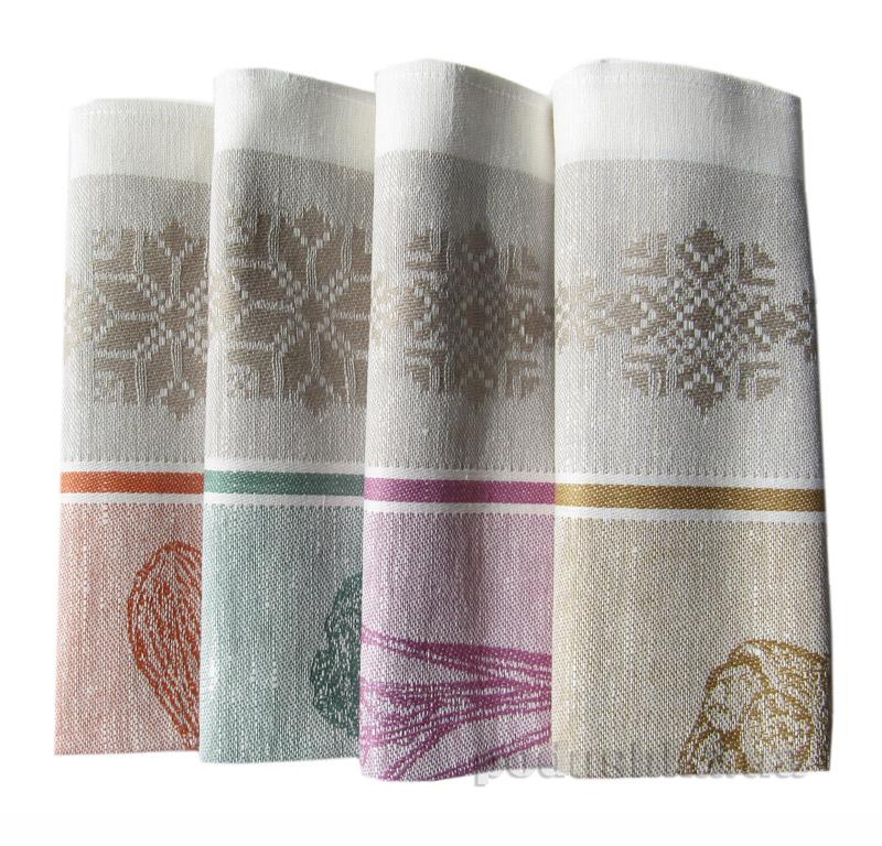 Набор из 4 полотенец Белорусский лен Мой Огород 13с364-ШР