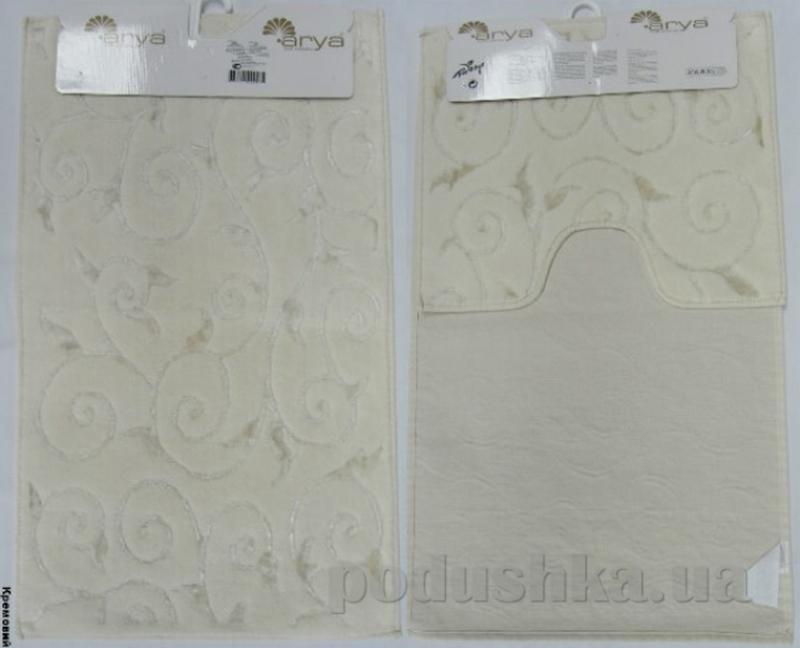 Набор из двух ковриков для ванной Arya 1380041 Sarmasik кремовый