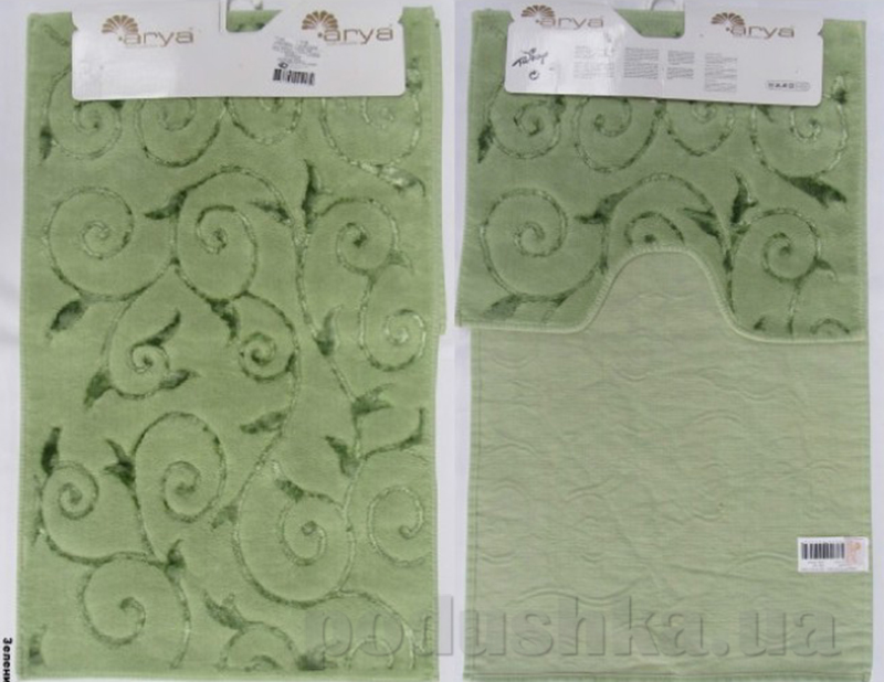 Набор из двух ковриков для ванной Arya 1380041 Sarmasik зеленый