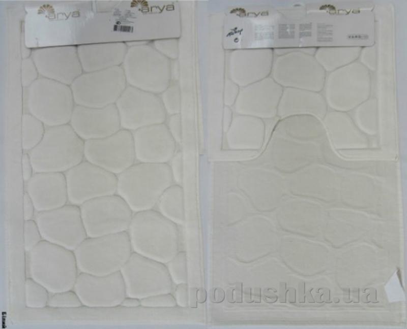 Набор из двух ковриков для ванной Arya 1380042 Tas белый
