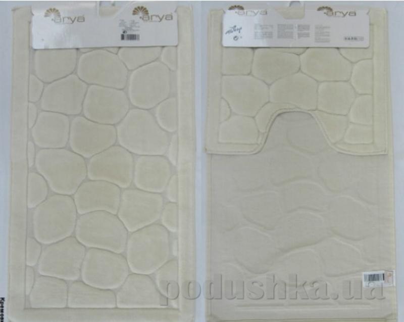 Набор из двух ковриков для ванной Arya 1380042 Tas кремовый