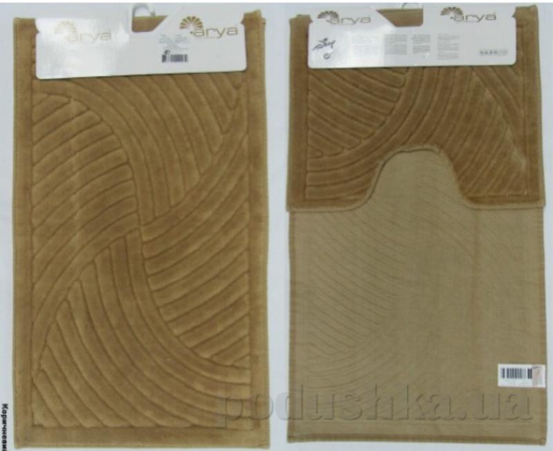 Набор из двух ковриков для ванной Arya 1380043 Yazgulu коричневый