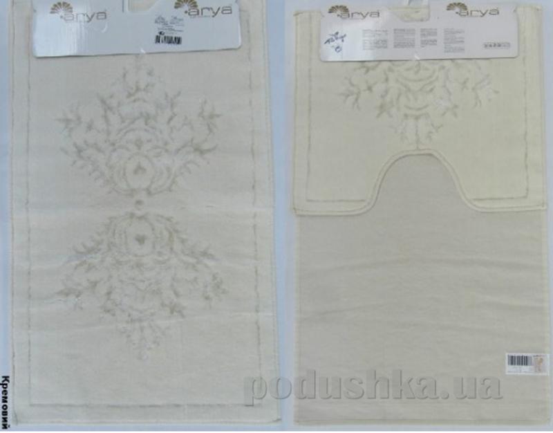 Набор из двух ковриков для ванной Arya Zambak 1380044 кремовый