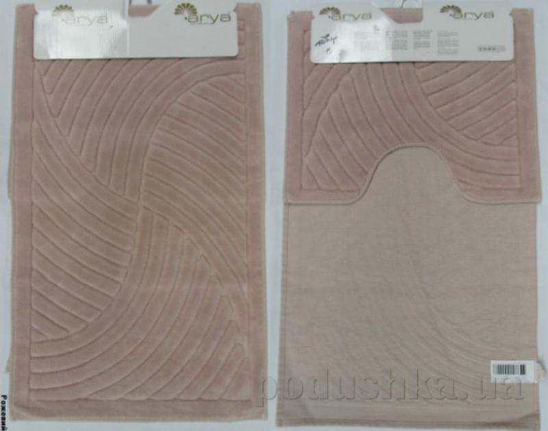 Набор из двух ковриков для ванной Arya 1380043 Yazgulu розовый