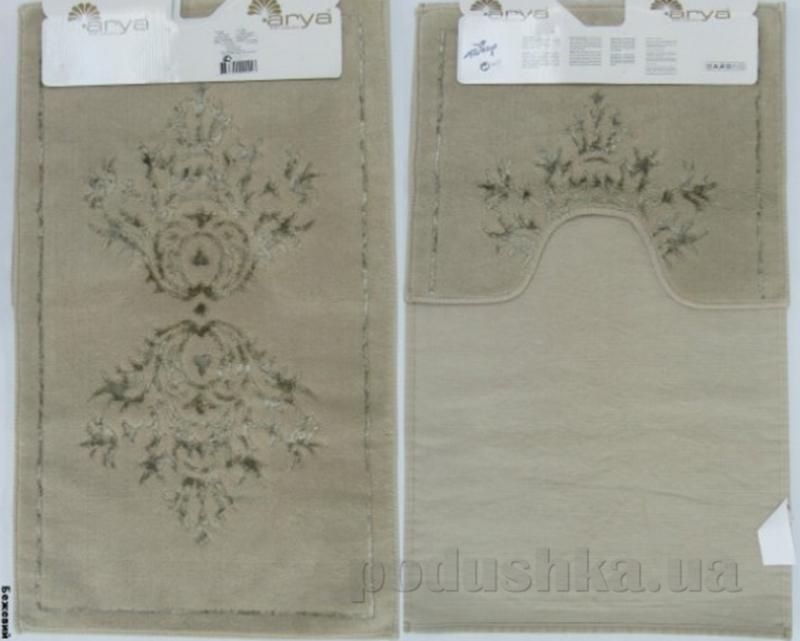 Набор из двух ковриков для ванной Arya 1380044 Zambak бежевый