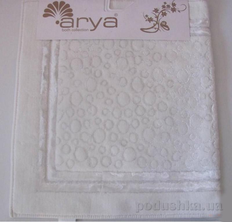 Набор из двух ковриков для ванной Hitit Arya 1380038 белый