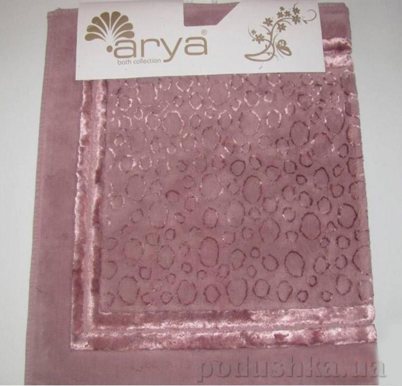 Набор из двух ковриков для ванной Hitit Arya 1380038 темно-розовый