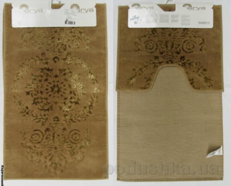 Набор из двух ковриков для ванной Luxor Arya 1380064 коричневый