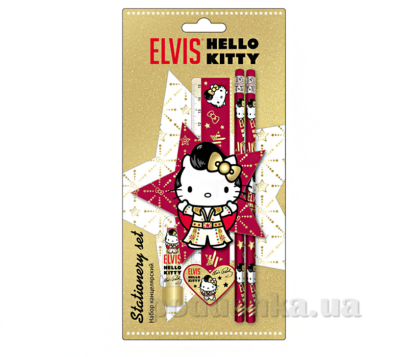 Набор канцелярский в блистере Hello Kitty Elvis HKAB-US1-75621-BL