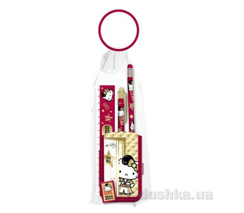 Набор канцелярский в пакете с кольцом Hello Kitty