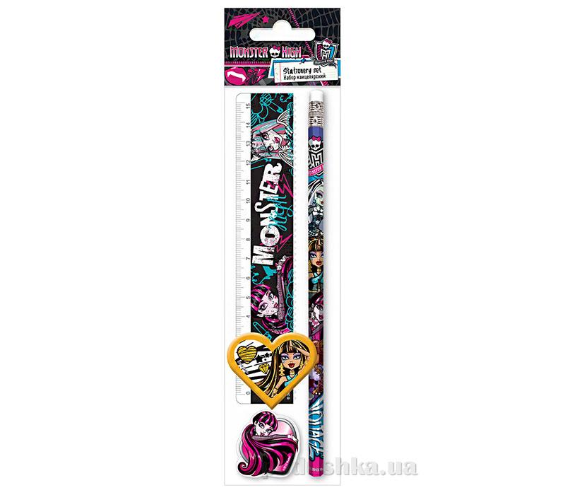 Набор канцелярский в пакете с подвесом Monster High
