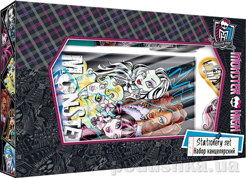 Набор канцелярский в подарочной коробке с вырубкой Monster High