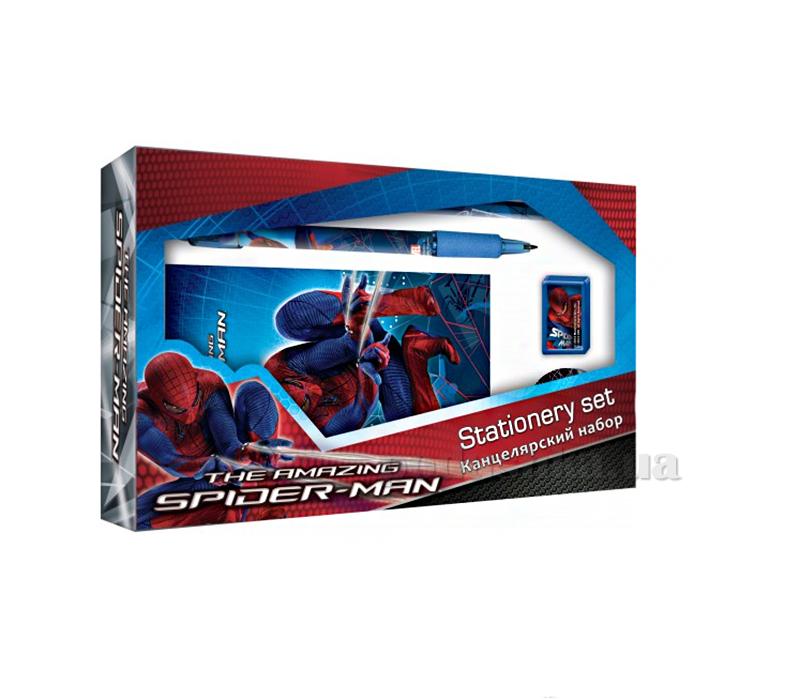 Набор канцелярский в подарочной коробке с вырубкой Spider-man SM4U-12S-360