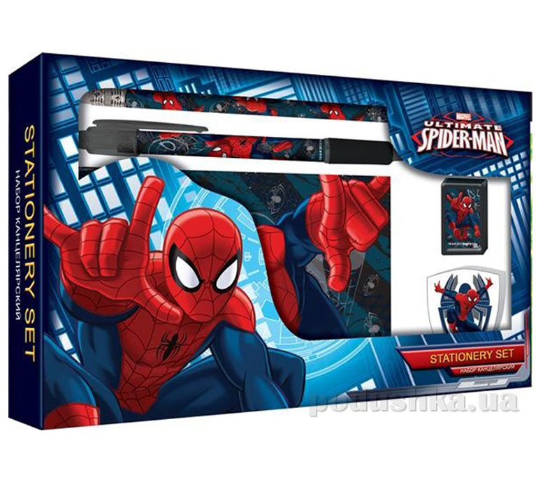 Набор канцелярский в подарочной коробке Spider Man SMAB-US1-360