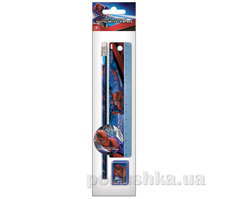 Набор канцелярский в ПП пакете с подвесом Spider-man SM4U-12S-5020-H