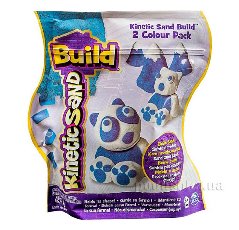Набор Kinetic Sand Build 71428WB белый+синий
