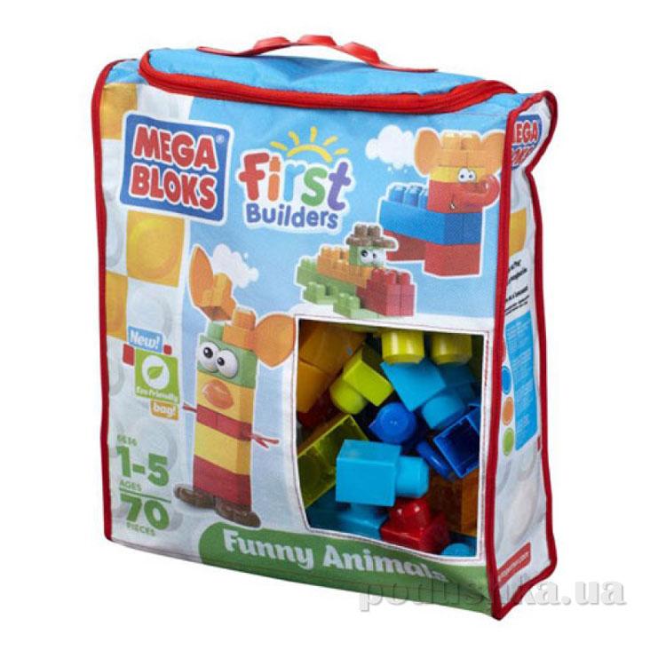 Набор конструктора в пакете Забавные Животные серии Первые строители 6637 Mega Bloks