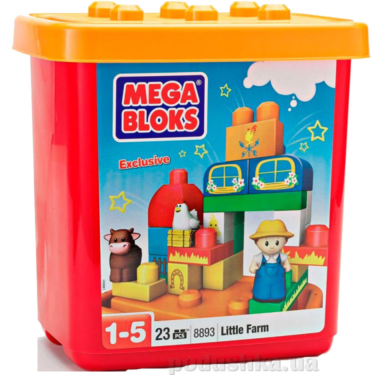 Набор конструктора в ведерке Ферма 8893 Mega Bloks