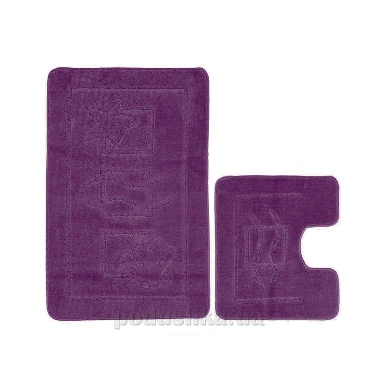 Набор ковриков для ванной Confetti Maritime aubergine