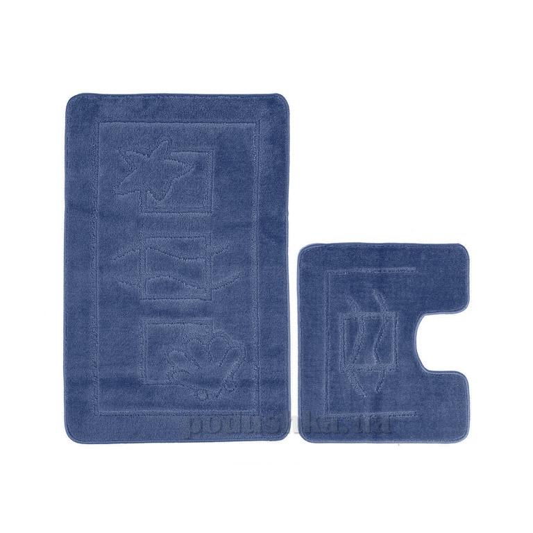 Набор ковриков для ванной Confetti Maritime Dark blue