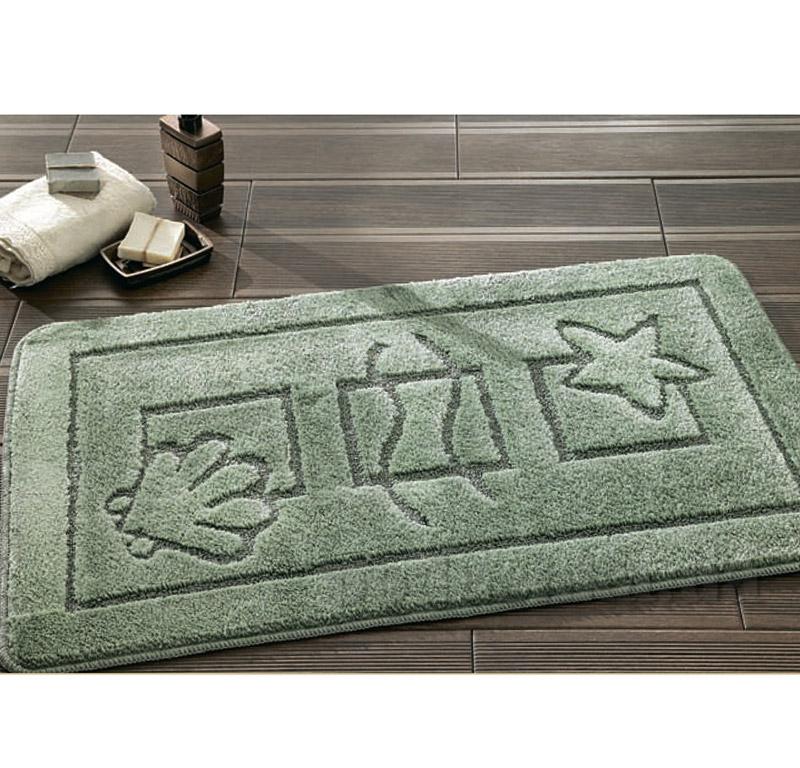 Набор ковриков для ванной Confetti Maritime Green зеленые