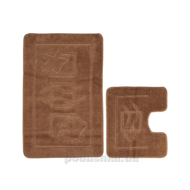 Набор ковриков для ванной Confetti Maritime Light brown