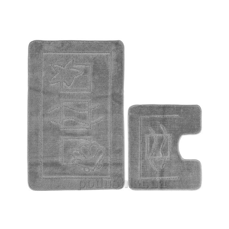 Набор ковриков для ванной Confetti Maritime Platinum серые