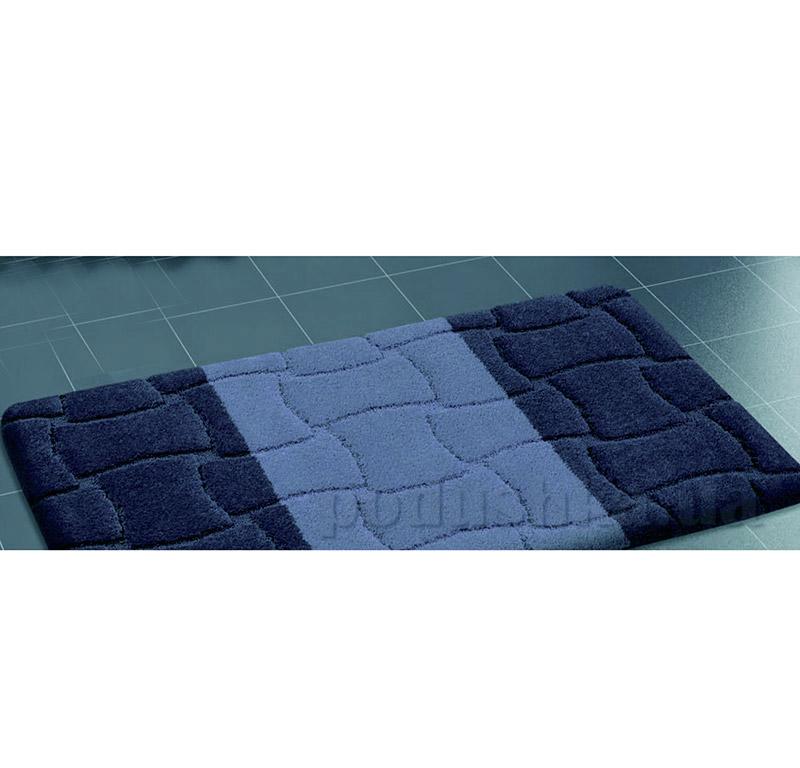 Набор ковриков для ванной Confetti Sariyer Dark Blue синие
